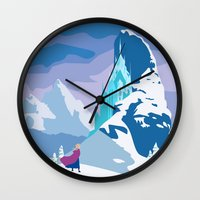 frozen Wall Clocks featuring Frozen by TheWonderlander