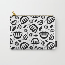 Piano smile pattern in black&white Carry-All Pouch