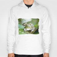 frog Hoodies featuring frog by Karl-Heinz Lüpke