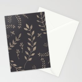 Light Sepia Leaves Pattern #1 #drawing #decor #art #society6 Stationery Cards