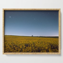 Starry Skies Over Canola Serving Tray