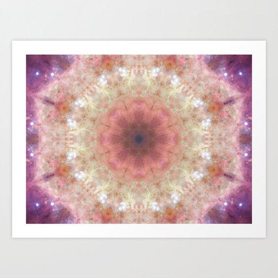 Space Mandala no8 Art Print