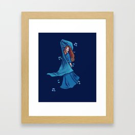 Blue Belly Dancer Framed Art Print