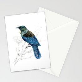 Tui, New Zealand native bird Stationery Cards