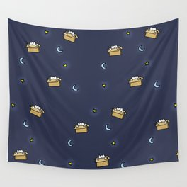 Cat print - Floating Through Space Wall Tapestry
