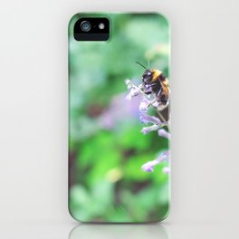 Bee in the Purple Flowers iPhone Case