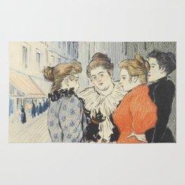 "Théophile Alexandre Steinlen ""Les rues amoureuses"" Rug"