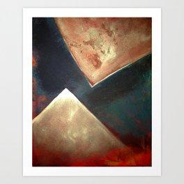 Golden Triangles Modern Abstract Art Painting Art Print