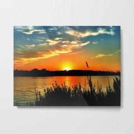 Tidewater Sunset  Metal Print