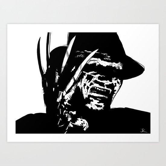 Freddy Krueger #1 Art Print