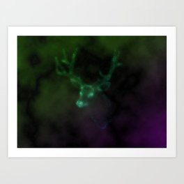 renostar / deer galaxy Art Print
