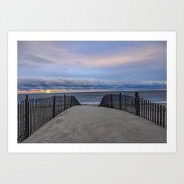 Sunrise on the Atlantic Ocean Art Print