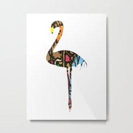 Fancy Flamingo Metal Print