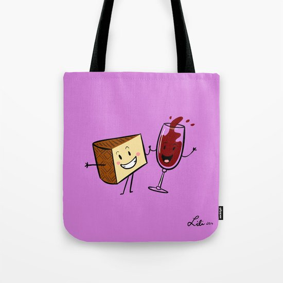 Manchego & Red Wine Tote Bag