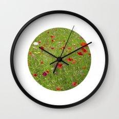 summer meadow IX Wall Clock