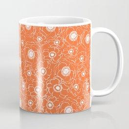 Orange and white floral pattern clemson football college university alumni varsity team fan Coffee Mug