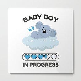 Baby Boy In Progress Metal Print