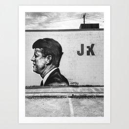 JFK in Dallas Art Print