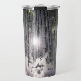 Arashiyama Bamboo in Winter Travel Mug
