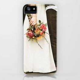 flowers on bridge iPhone Case