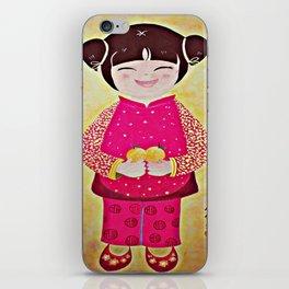 Chinese Girl with Mandarin Oranges iPhone Skin