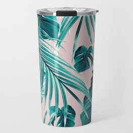 Tropical Jungle Leaves Dream #4 #tropical #decor #art #society6 Travel Mug