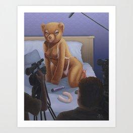 Porn Star Teddy Art Print