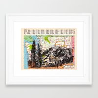 washington Framed Art Prints featuring Washington by Ursula Rodgers