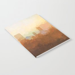 Jacksonville, Florida Skyline - In the Clouds Notebook