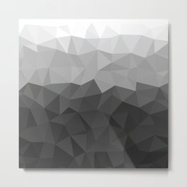 Low polygon monochromatic minimalism Metal Print
