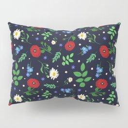 Swedish Folk Flowers Pillow Sham