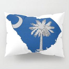 South Carolina Map with State Flag Pillow Sham