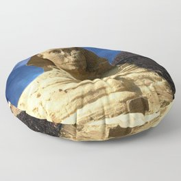 Sphinx  and Pyramid Floor Pillow