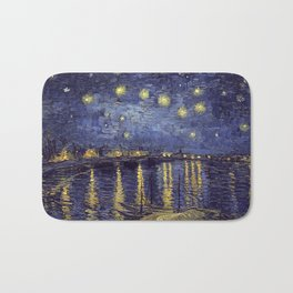 Vincent Van Gogh Starry Night Over The Rhone Bath Mat