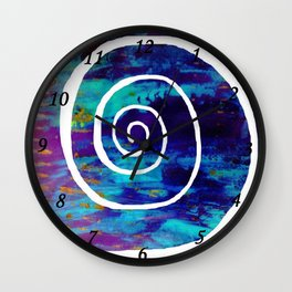 White Spiral S49 Wall Clock