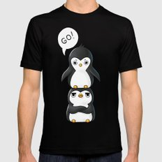 Penguins Mens Fitted Tee Black SMALL
