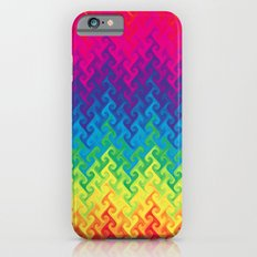 neon rainbow flame chevron Slim Case iPhone 6s