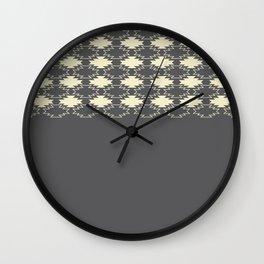 Gray Native Pattern Wall Clock