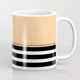 Black + White And Peach Coffee Mug