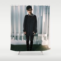 youtube Shower Curtains featuring YouTube - Troye Sivan by Petia Koteva