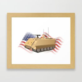 Patriotic Military APC M113 Framed Art Print