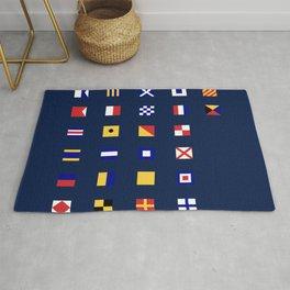 Maritime Flags Rug