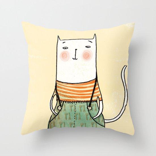 Gato con Botas Throw Pillow