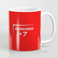 f1 Mugs featuring F1 2015 - #7 Raikkonen [v2] by MS80 Design