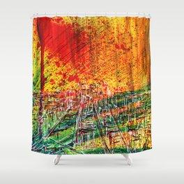 Take city Shower Curtain
