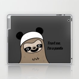 Sloth says trust me, I'm a panda Laptop & iPad Skin