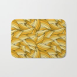PRIMROSE YELLOW LEAVES B (abstract flowers nature) Bath Mat
