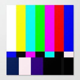 No Signal TV Canvas Print