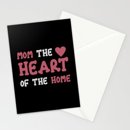 mom the heart Stationery Cards