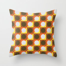 Circle gets the Square Throw Pillow